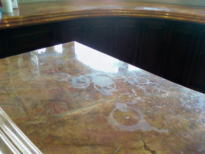 etched marble countertop