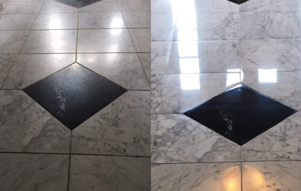 Dull Marble Floor Polished