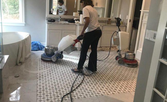 Marble Mosaic Floor Lippage Repair
