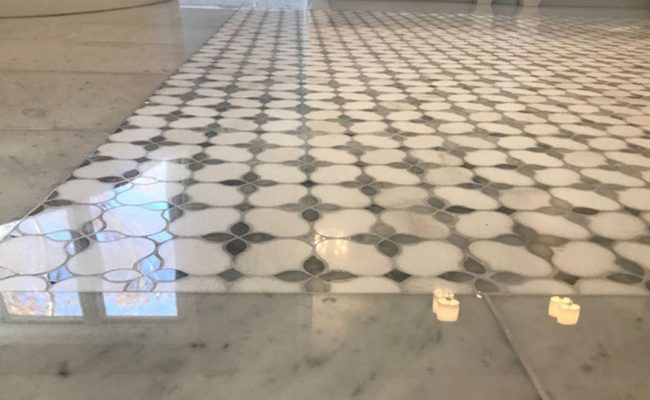 Marble Mosaic Floor Lippage Removal