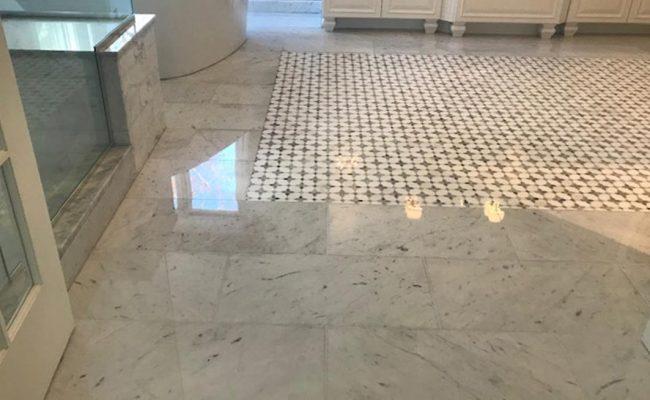 Marble Mosaic Floor Grinding