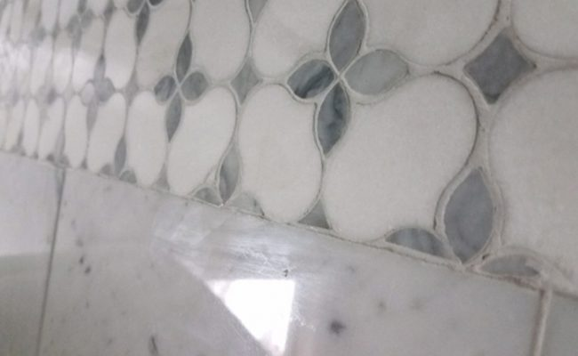 Marble Mosaic Floor Flattening