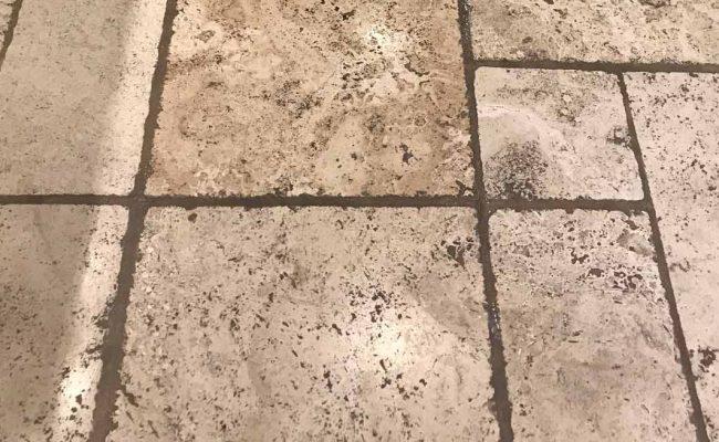 Travertine Floor Before Restoration