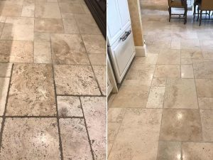 Travertine Restoration Before and After