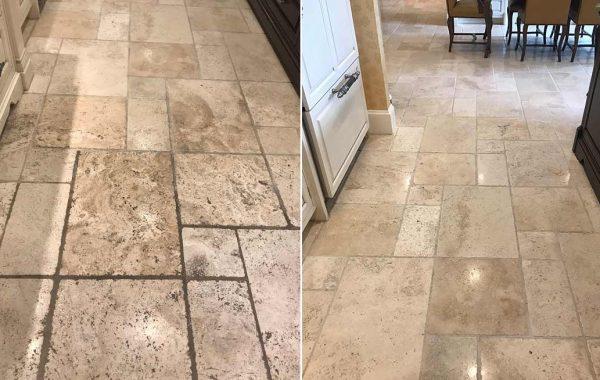 Boston Travertine Floor Refinished